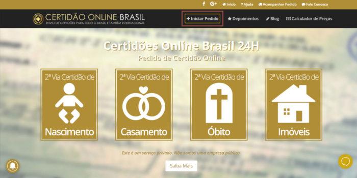 Cartório Online Site 24 horas